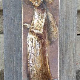 obraz z aniołem z książką