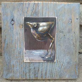 obraz z ptaszkiem