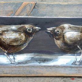 obraz z ptaszkami