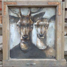 portret pary jeleni
